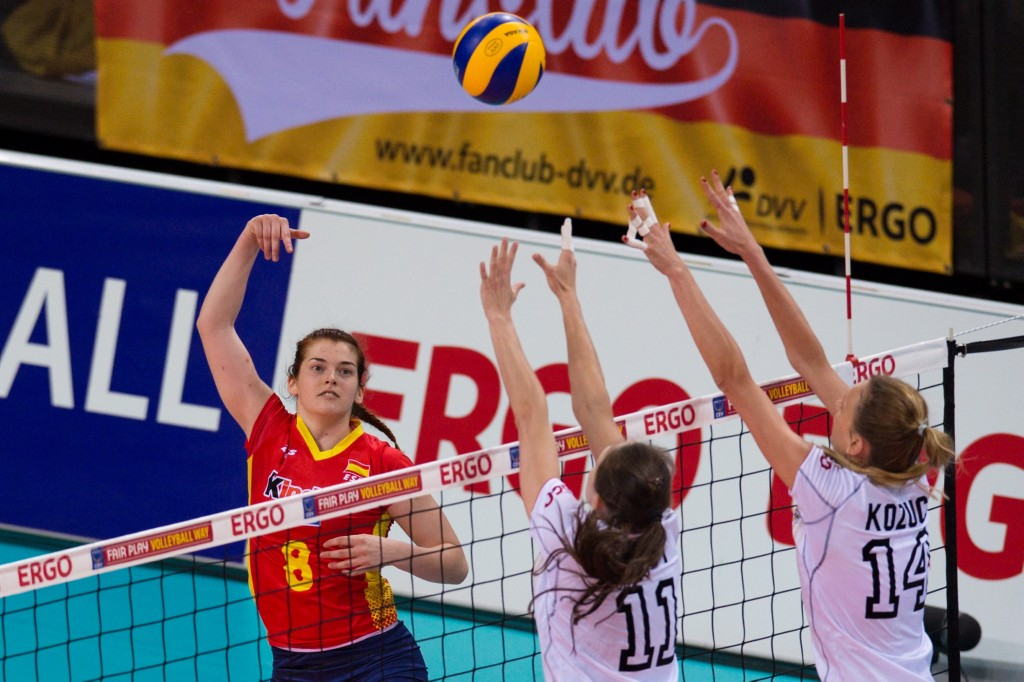 voleibol seleccion femenina Volleyball, European League 2014, Deutschland vs. Spanien