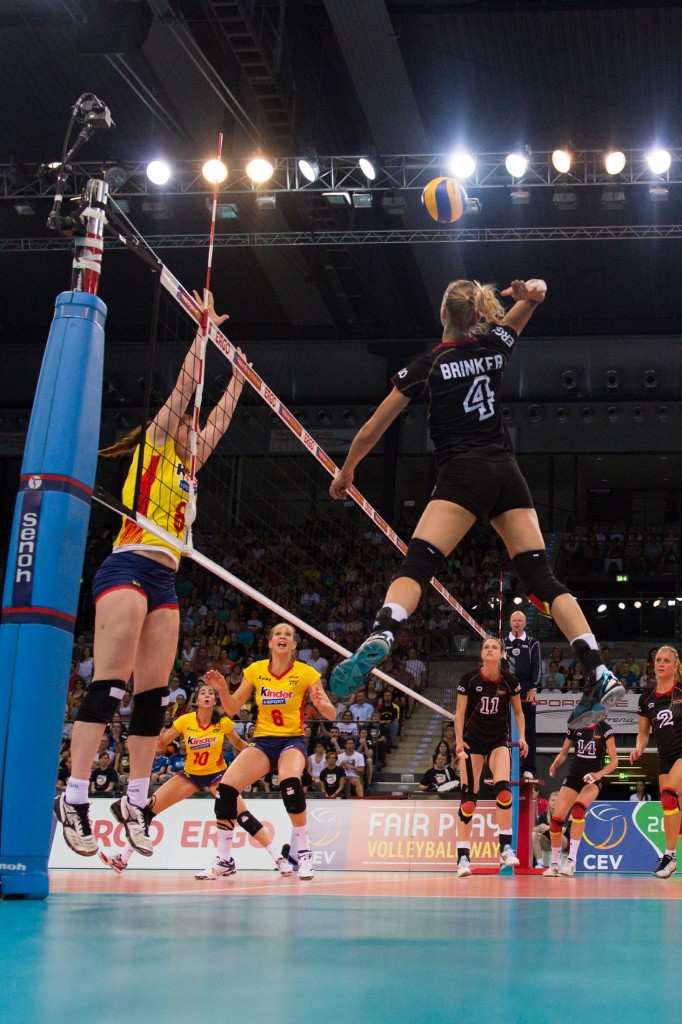 voleibol femenino Volleyball, European League 2014, Deutschland vs. Spanien