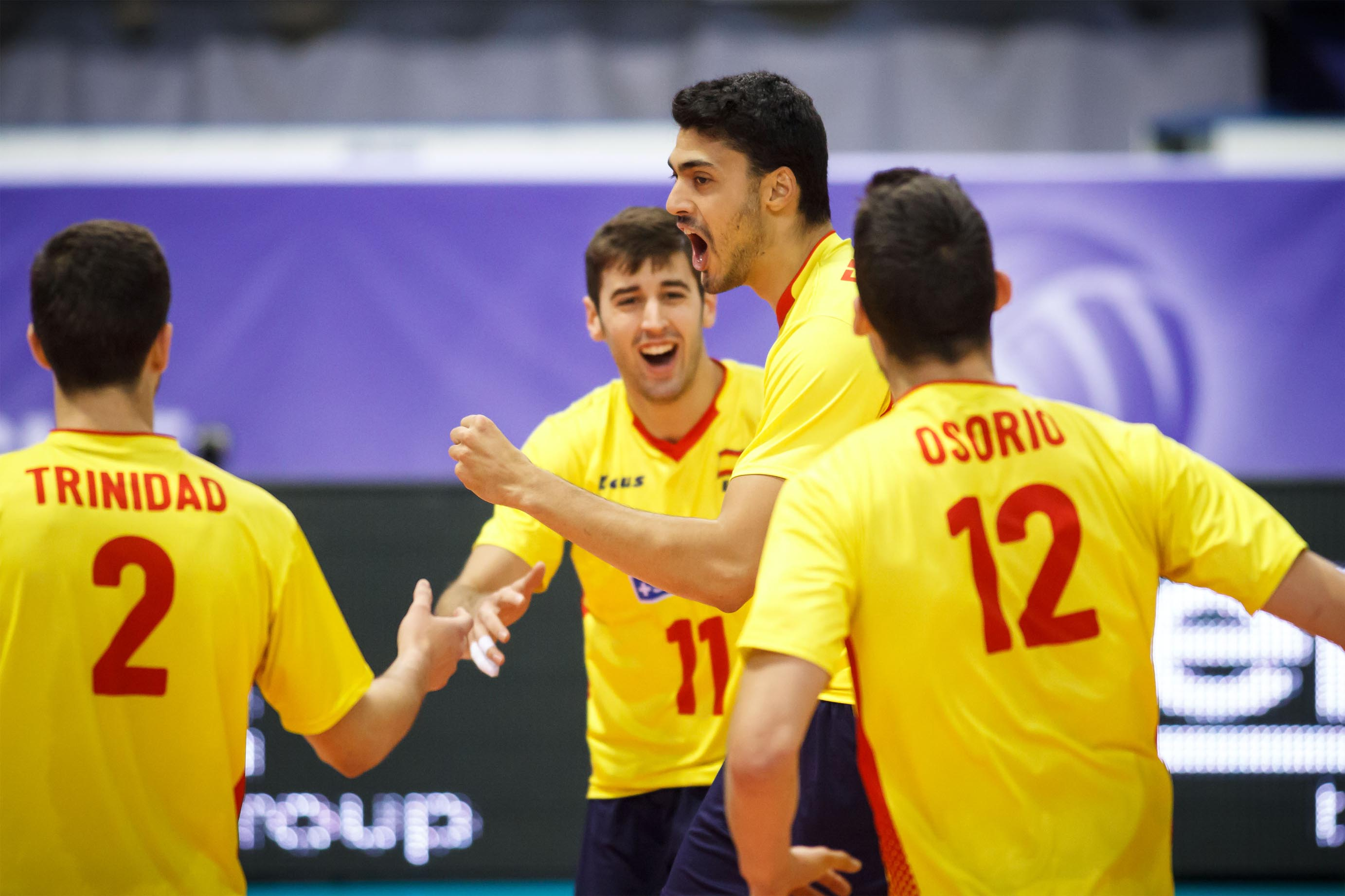 La selección española se despide de la Liga Mundial con un gran triunfo sobre Eslovaquia. Fuente: RFEVB