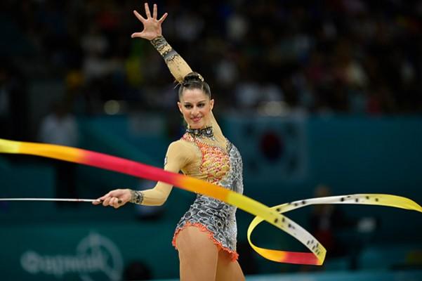 Carolina Rodríguez en el Campeonato del Mundo en Kiev, 2013. Fuente: RFEG