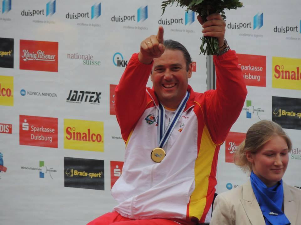 Javier Reja Muñoz ha sido galardonado como el mejor deportista con discapacidad. Fuente: AD