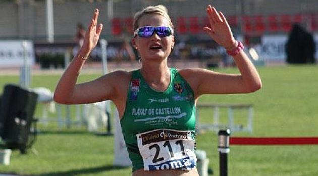 Julia Tacks vuelve a batir el récord de 10.000 metros marcha. Fuente: RFEA