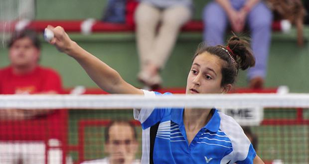 La jugadora de bádminton Clara Azurmendi. Fuente: AD