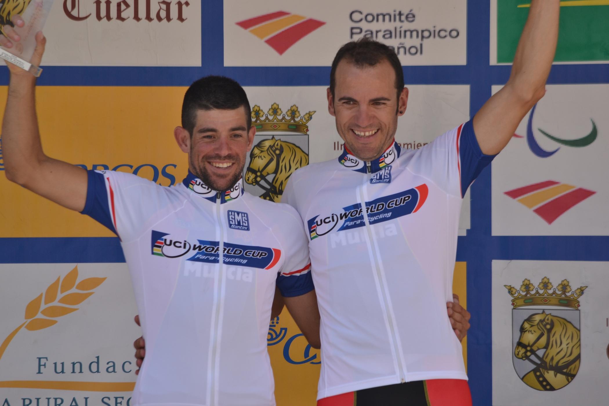 Ignacio Ávila y Joan Font se han proclamado campeones absolutos de la Copa del Mundo de Ciclismo Adaptado. Fuente: RFEC