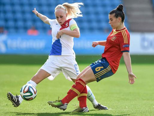 Las chicas sub-19 han logrado la medalla de plata en el Campeonato de Europa tras perder contra Holanda (0-1). Fuente: AD