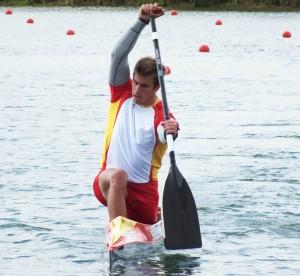 El balear durante un entrenamiento. Fuente: RFEP