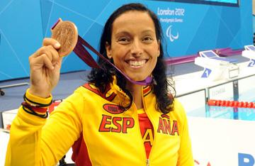 Teresa Perales en los Juegos Olímpicos de Londres 2012. Fuente: AD