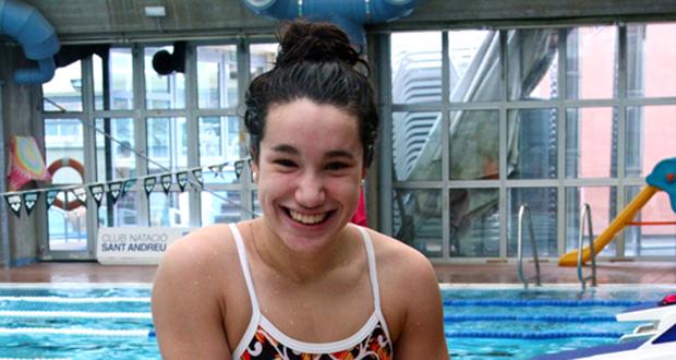 La nadadora África Zamorano ha conseguido 2 medallas de oro en el  último campeonato de Europa Júnior. Fuente: AD