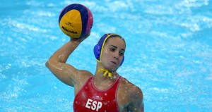 Anni Espar durante un partido. Fuente: RFEN