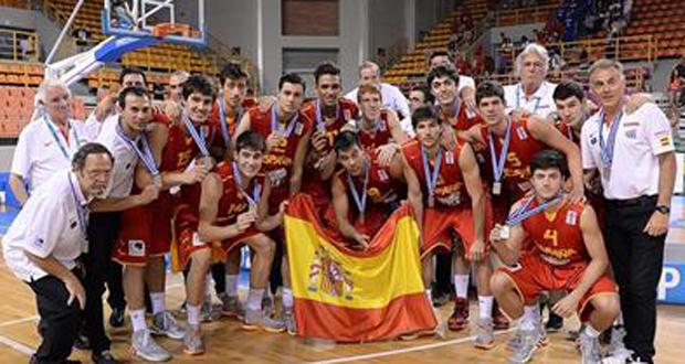 La selección española sub 20 de baloncesto logra la plata en el Europeo. Fuente: FIBA