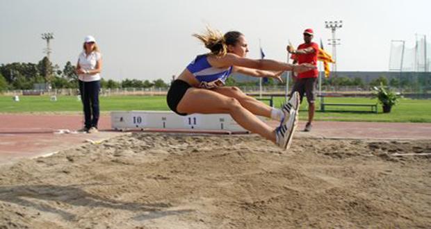 La saltadora Ana Garijo durante un campeonato. Fuente: AD