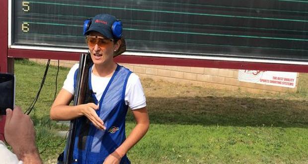 La tiradora cordobesa Fátima Gálvez en Las Gabias tras ganar el oro en foso olímpico. Fuente: tiro olímpico