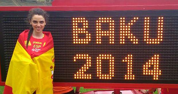 La atleta en los Trials europeos de Bakú (Azerbaiyán). Fuente: AD