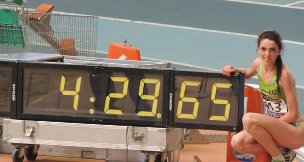 Celia Antón ha alcanzado la mejor marca española juvenil (4:29:65) en el Campeonato de España. Fuente: AD