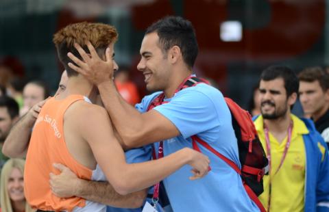 El atleta consiguió proclamarse el año pasado subcampeón en el Campeonato de Madrid de pista cubierta. Fuente: AD