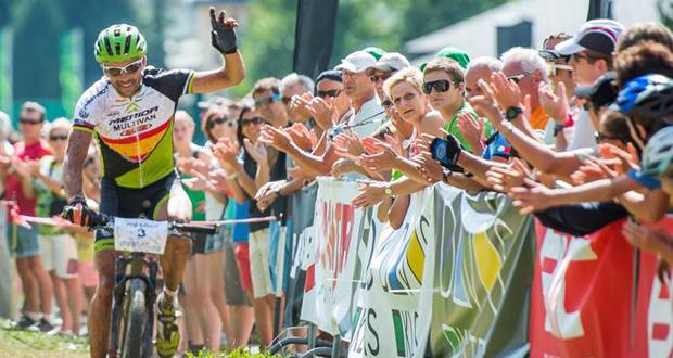 José Antonio Hermida logra su octavo título de campeón de España en mountain bike. Fuente: AD