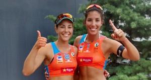 Paula Soria y Ángela Lobato. Fuente: RFEVB