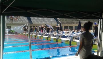 Instante de la salida de la prueba 800 metros libre femenino. Fuente: RFEN