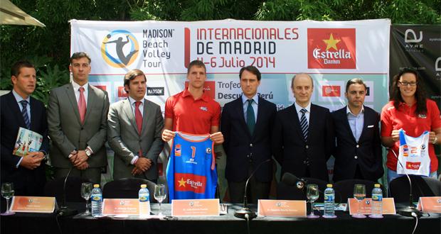 Presentación oficial de los Internacionales Ciudad de Madrid. Fuente: RFEVB