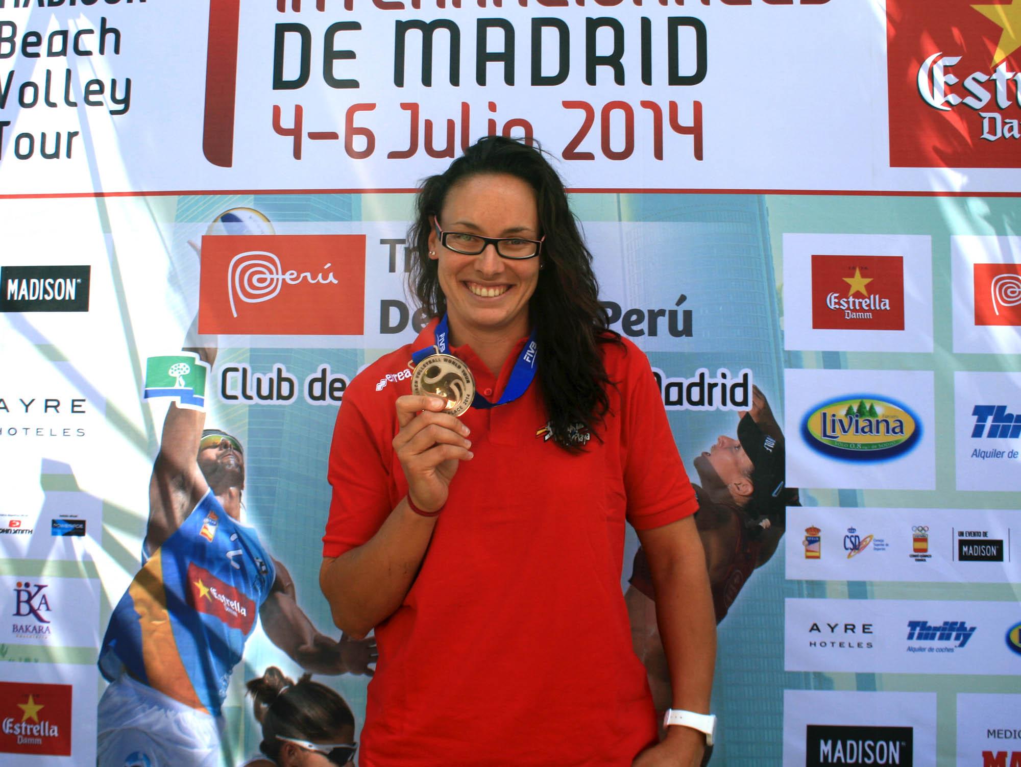 Liliana Fernández Steiner durante la presentación oficial de los Internacionales de Madrid. Fuente: RFEVB