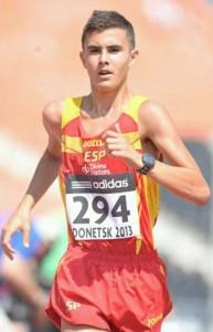 El atleta Manuel Bermúdez. Fuente: AD