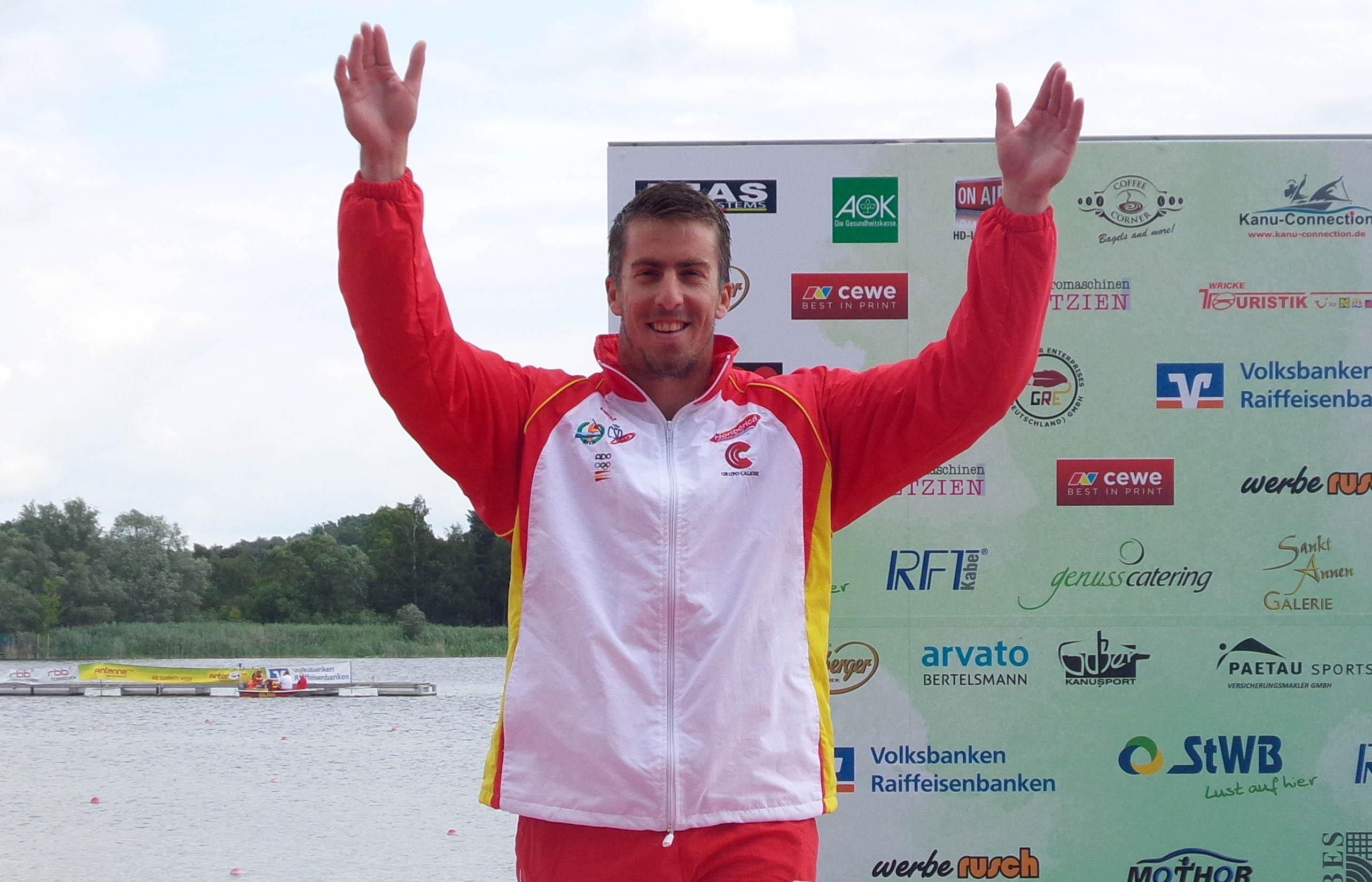 Sete Benavides ha conseguido la medalla de plata de C1 200 en el Campeonato de Europa de Brandenburgo. Fuente: RFEP