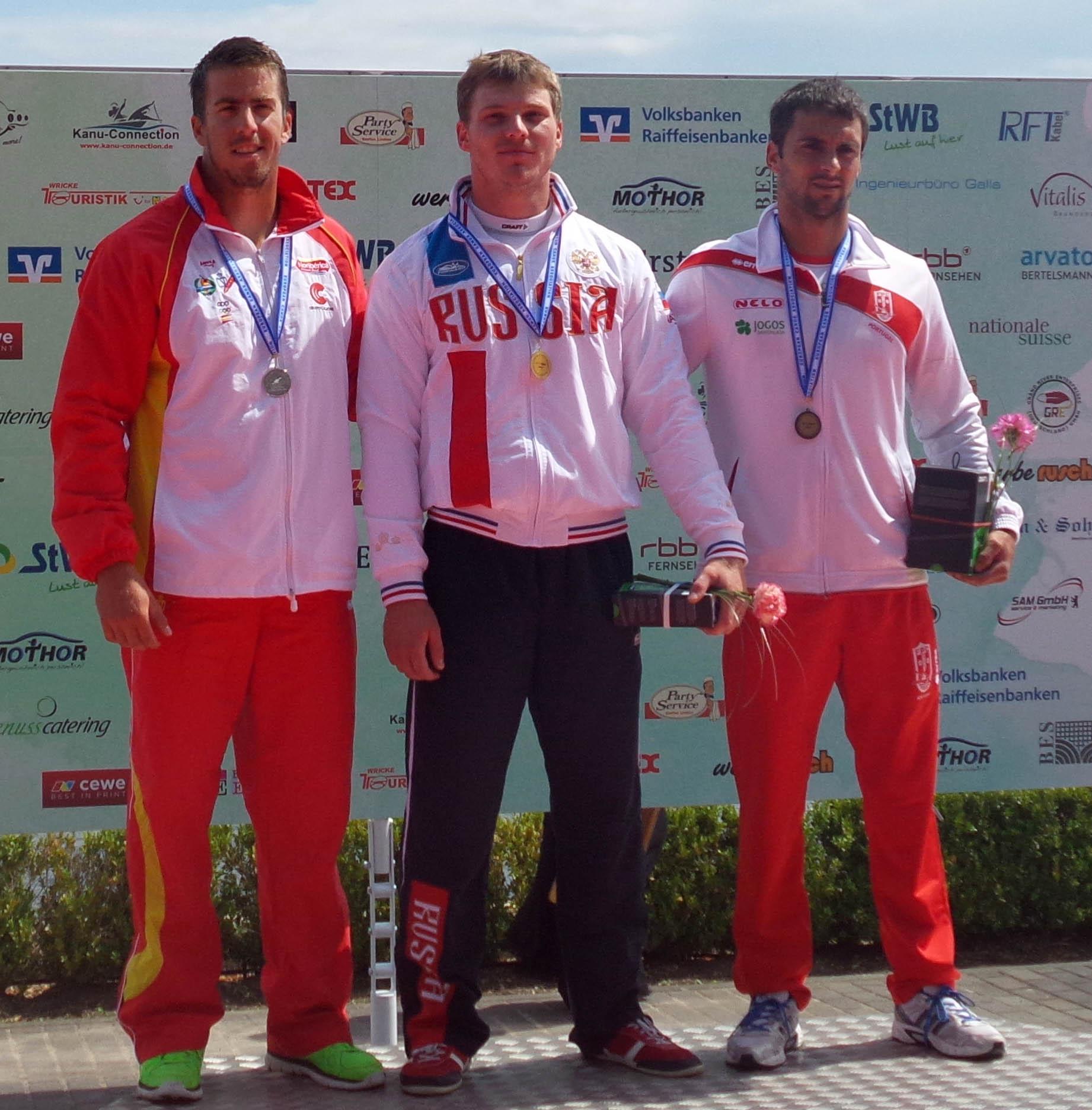 El podio ha sido completado por el ruso Alexey Korovashkov (oro) y por el portugués Helder Silva (bronce). Fuente: RFEP