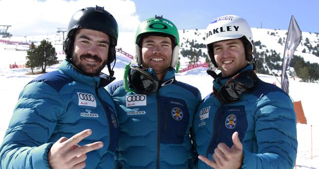 Los 'riders' españoles Regino Hernández, Laro Herrero y Lucas Eguíbar. Fuente: RFEDI