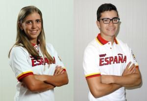 Celia Barquín e Iván Cantero. Fuente: COE