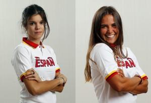 María Rodríguez (ciclismo) y María Fatou vela
