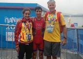 La triatleta Carmen Gómez, plata olímpica en Nanjing