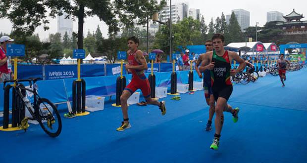 El triatleta malagueño Alberto González en Nanjing. Foto: ScottieT | ITU Media