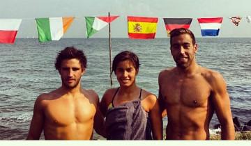 EquipoHoorn360 natacion aguas abiertas Antonio Arroyo, Luisa Mar Morales y González