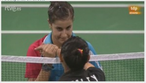 carolina marin cuartos de final mundial copenague 2014 badminton