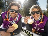 Los esquiadores Santacana y Galindo, Medalla de oro al Mérito Deportivo