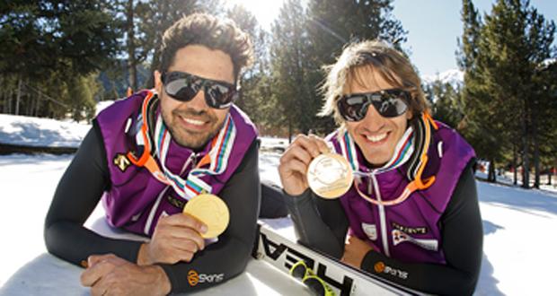 Los esquiadores españoles Miguel Galindo y Jon Santacana. Fuente: Comité Paralímpico Español