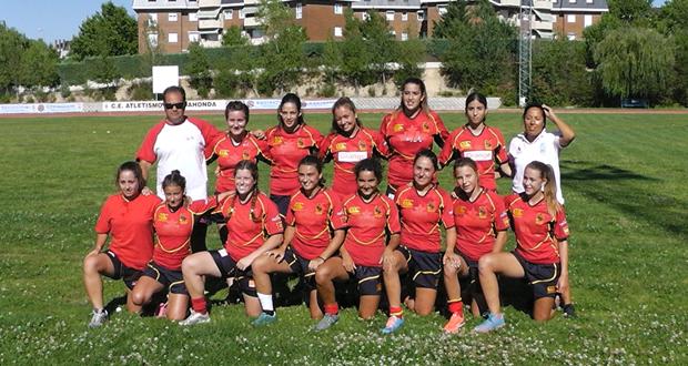 La selección española sub 18 de seven rugby. Fuente: Ferugby