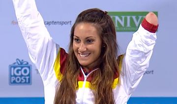 La nadadora Sarai Gascón ha sido una de las estrellas de esta 1ª jornada, tras adjudicarse la medalla el oro en los 50 metros libre de la clase S9. Fuente: CPE