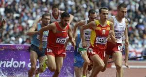 Víctor García durante una carrera. Fuente: AD