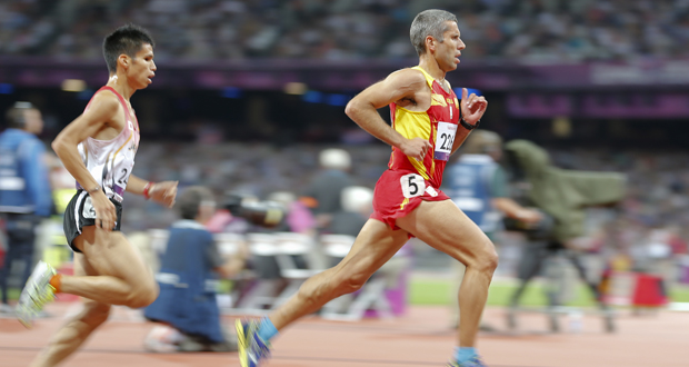 El atleta asturiano Alberto Suárez Laso durante una carrera. Fuente: CPE