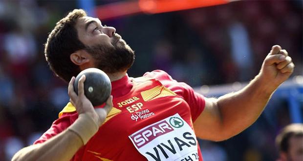 El lanzador de peso malagueño Borja Vivas se proclama subcampeón de Europa. Fuente: AFP