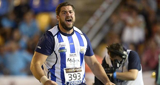 El lanzador de peso malagueño Borja Vivas. Fuente: AD