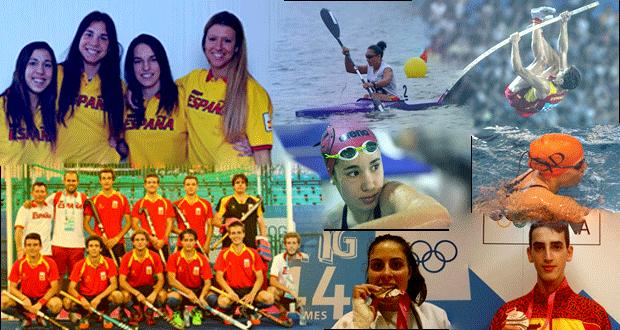 Los medallistas españoles en Los Juegos Olímpicos de la Juventud en Nanjing (China). Fuente: AD