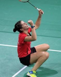 La jugadora onubense. Fuente: badminton.es