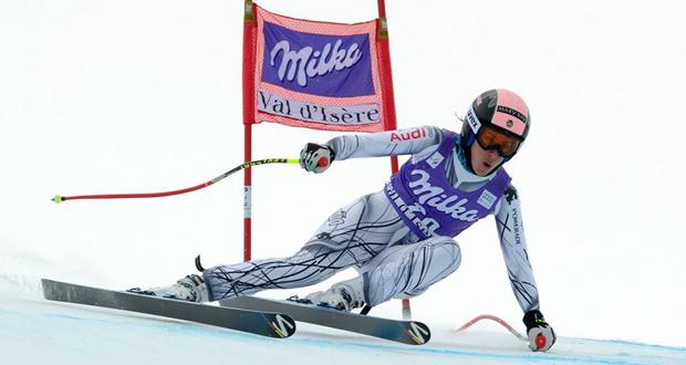 La esquiadora granadina Carolina Ruiz durante una competición. Fuente: AD