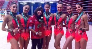 Las gimnasta españolas. Fuente: @S_bayon