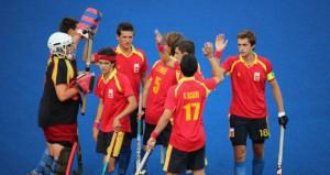 España tras un partido. Fuente: RFEH