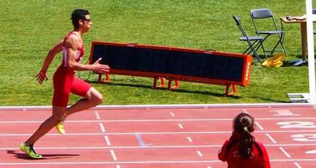 El velocista Joan Munar durante una carrera. Fuente: AD