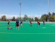 Los jugadores de la sub 18 de hockey hierba para Nanjing
