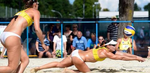 Fernández-Baquerizo han rozado las semifinales en el Grand Slam de Klagenfurt. Fuente. RFEVB
